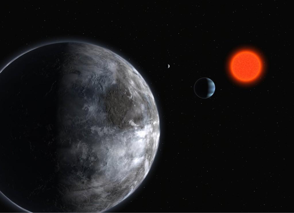 Exoplaneet Gliese 581 c, een mogelijke locatie voor aliens