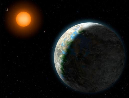 Gliese 581 g - als deze planeet bestaat, is het een toplocatie voor aliens