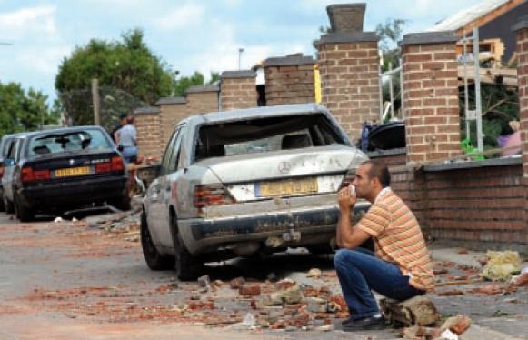 Tornado verwoestte Haumont