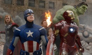 Scene uit de film The Avengers