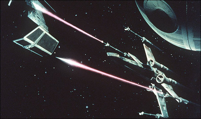 Wetenschappelijk fout: schieten met lasers in Star Wars