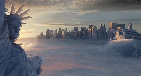 In Hollywood moet het vlug: in The Day After Tomorrow voltrekt catastrofale klimaatsverandering zich in enkele dagen.
