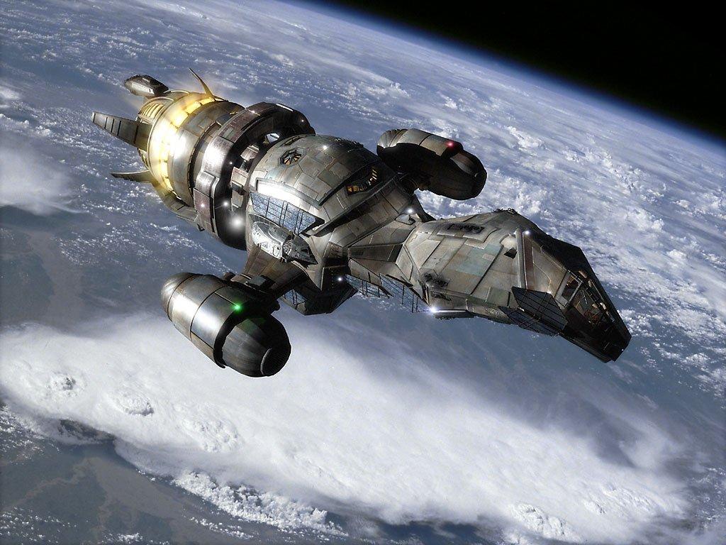 In televisieserie Firefly en film Serenity van schrijver en regisseur Joss Whedon is geen geluid te horen in de ruimte.