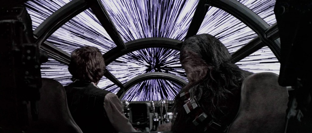 Millenium Falcon hyperspace hyperruimte